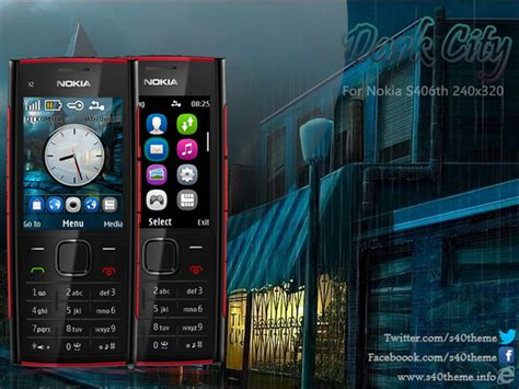 themes nokia asha 206 dark city theme x2 00 c2 05 240x320 s406th wb7themes