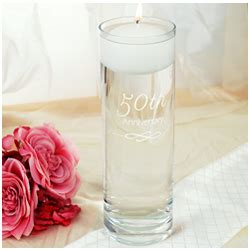 Wedding Anniversary Vase by 50th Wedding Anniversary Floating Candle Vase Findgift