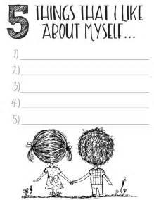 free printable self esteem worksheets