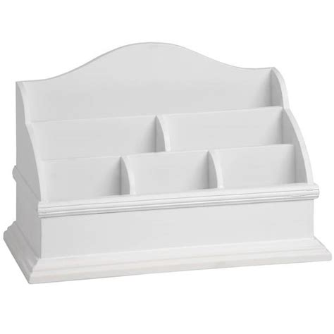 Letter Rack Organiser by Desk Top Organiser Letter Rack White Wooden Table