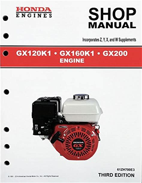 honda gx120 gx160 gx200 engine service repair shop manual