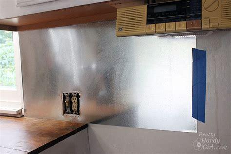sheet metal backsplash install your own magnetic metallic backsplash a