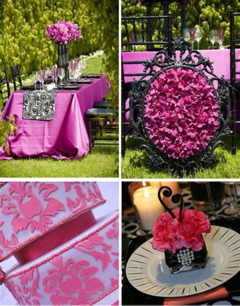 best 25 pink black weddings ideas on black wedding themes fuchsia wedding theme
