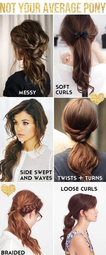 types of pony tail with a roll types of ponytails helmet friendly hair pinterest