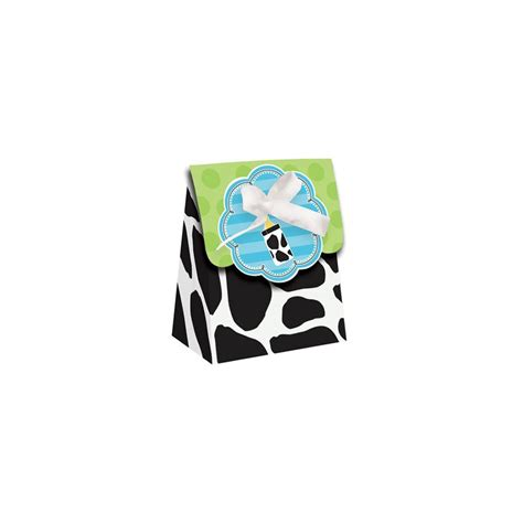 Baby Boy Cow Print Baby Shower by Baby Boy Cow Print Favor Bag Ribbon Balloons