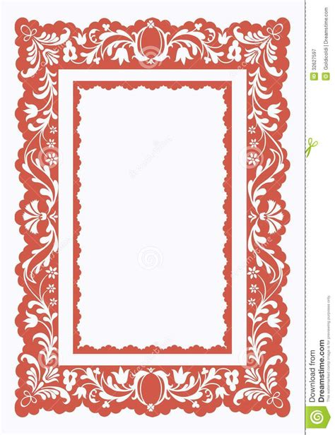 pattern with frame vintage frame with floral pattern royalty free stock