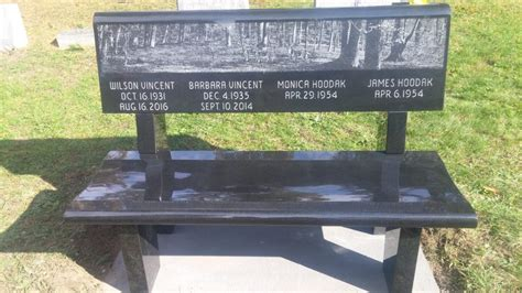 black granite bench memorial benches tunkhannock memorial benches meshoppen