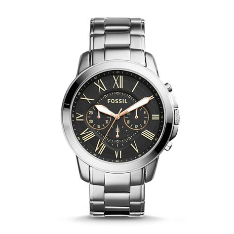 Fossil Fs 5000 Chronograph grant chronograph stainless steel fossil