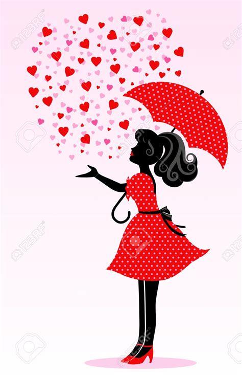 clipart  silhouette  girl  umbrella clipground