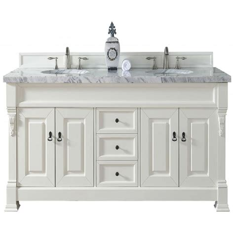 Martin Vanity by Martin Signature Vanities Brookfield 72 In W Vanity In Cottage White With Marble