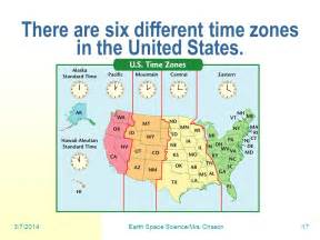us time zones ppt earth space science mrs chason ppt