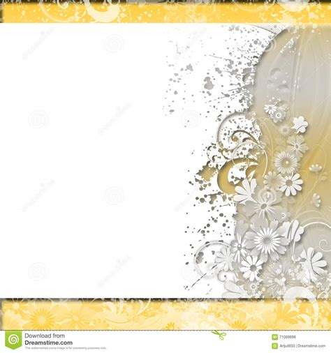 Wedding Invitation Gold Background by Floral Background Invitation Wedding Paper Cards
