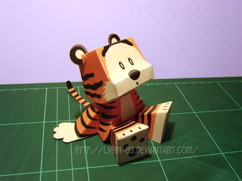 Tiger Papercraft - stuffed tiger papercraft by lyrin 83 on deviantart