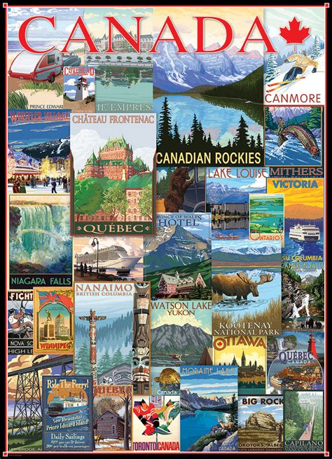 vintage ads travel canada jigsaw puzzles  eurographics