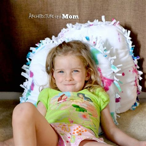 small teen architecture of a mom tie dye no sew t shirt pillows