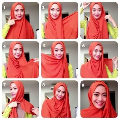 tutorial hijab simple resmi 17 best ideas about easy hijab tutorial on pinterest