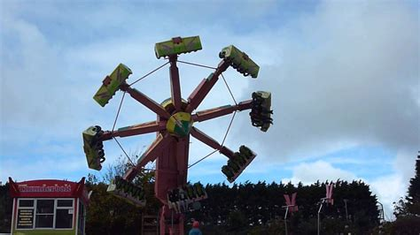 the thunderbolt ride at flambards theme park helston flambards thunderbolt offride youtube