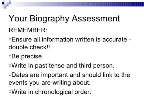 chronological biography exle powerpoint biography analysis