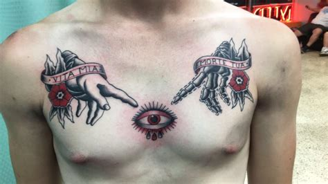 white lotus tattoo nj just finished my chest piece done by richard at midcity
