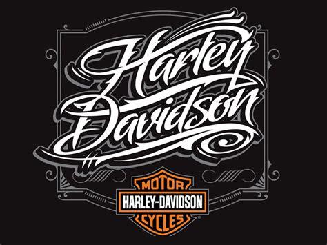 Kaos Anime Airbrush harley davidson script logo harley davidson script font