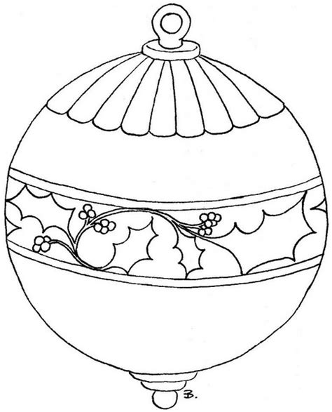 baubles coloring pages
