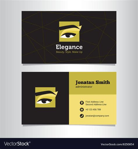 Composite Card Makeup Artist Template by Business Card Template With Make Up Studio Vector By