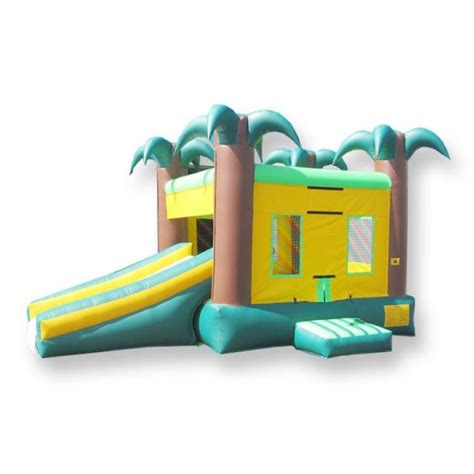 bounce house okc bounce house rentals with slide tropical combo