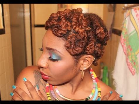 Natural Hair   Quick & Easy Pin Curls w/ Twists   YouTube