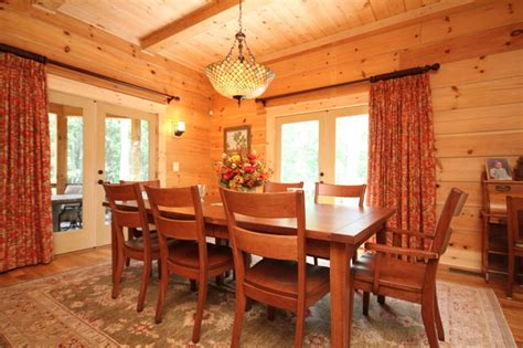 montpelier log cabin rustic dining room richmond