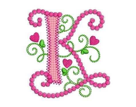 cute alphabet pattern cute letter k alphabet for lil princess hearts applique