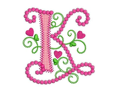design art k k cute letter k alphabet for lil princess hearts by