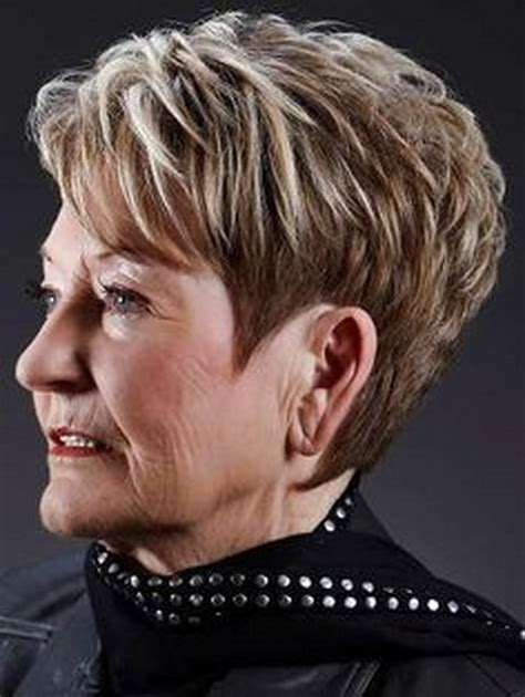 short hayles shorter on one side and spikey short haircuts women over 60