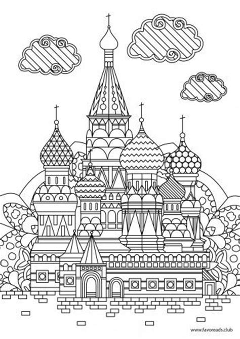 Cathedral Coloring Pages