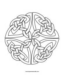 celtic coloring pages mandala monday more free celtic mandalas to color