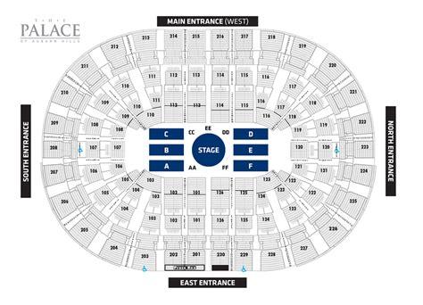 Palace Of Auburn Hills Floor Plan carrie underwood palace sports amp entertainment