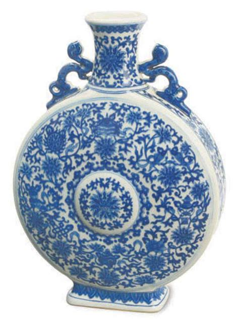 blue and white porcelain a chinese blue and white porcelain moon flask late 19th
