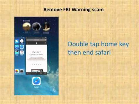 How to remove fbi warning scam on iphone ipad in safari youtube