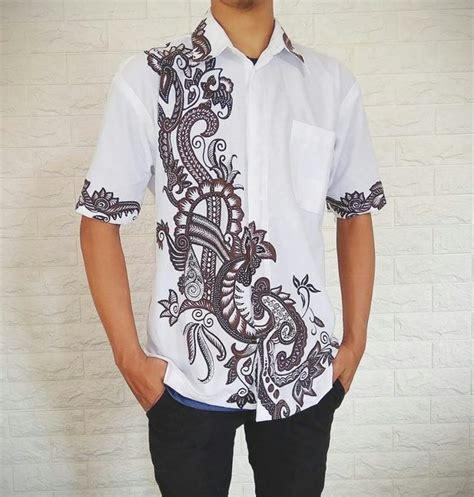 jual model kemeja batik pria modern pekalongan batik