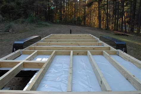 how to build a floor for a house adding the deck the tiny