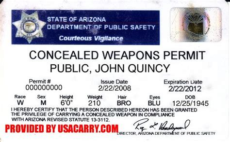 Background Check For Concealed Carry Permit Arizona Concealed Carry Permit Information Concealed Weapon