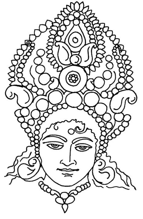 indian face coloring page goddess durga free coloring pages part 4 dot