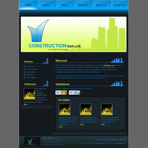 free construction website templates html construction template