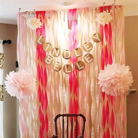 Wedding Backdrop Layout by 6pcs Crepe Paper Roll Streamers Decorative Ribbons