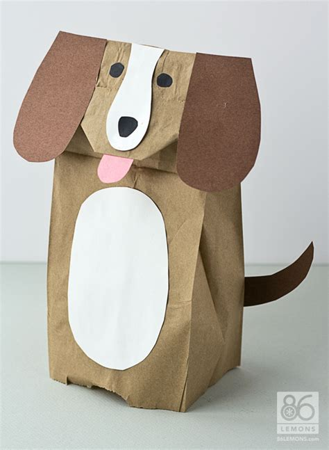 paper bag dog pattern 6 best images of printable paper bag dog puppets paper