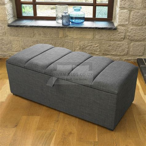Padded Ottoman With Storage Padded Ottoman Storage Clean So Easily Railing Stairs