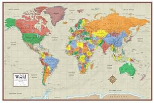 Home And Floor Decor contemporary elite world wall map poster mural