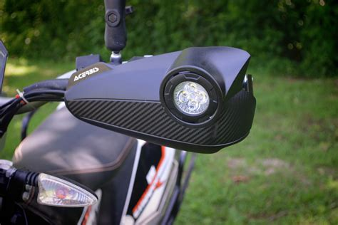 klr 650 led lights vision handguards offer two adv motorcycle upgrades in one