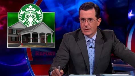 colbert on the perkatory of the funeral home starbucks