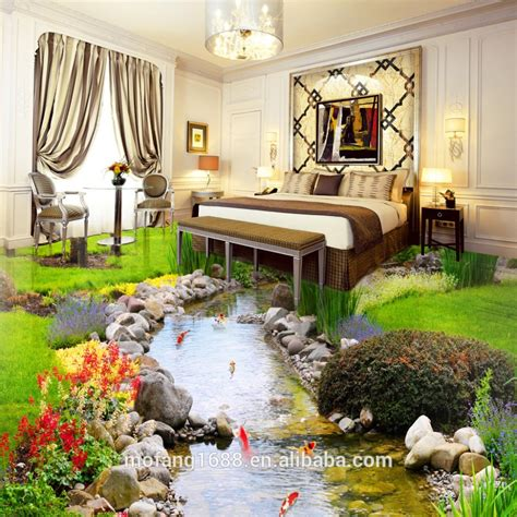 walk along the park decor home vinyl wallpaper river