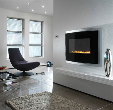 modern wall mount fireplace modern wall mounted fireplace interior design ideas